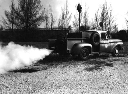Truck fogging using DDT in Florida.