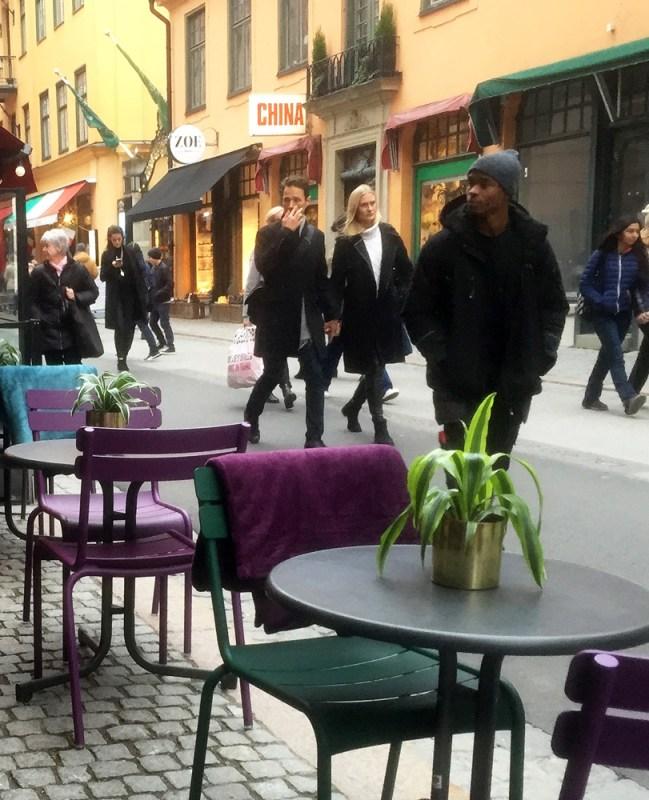 Streetside cafe in Stockholm
