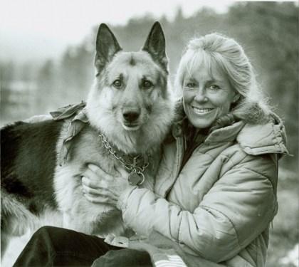 Anne LaBastille and her dog