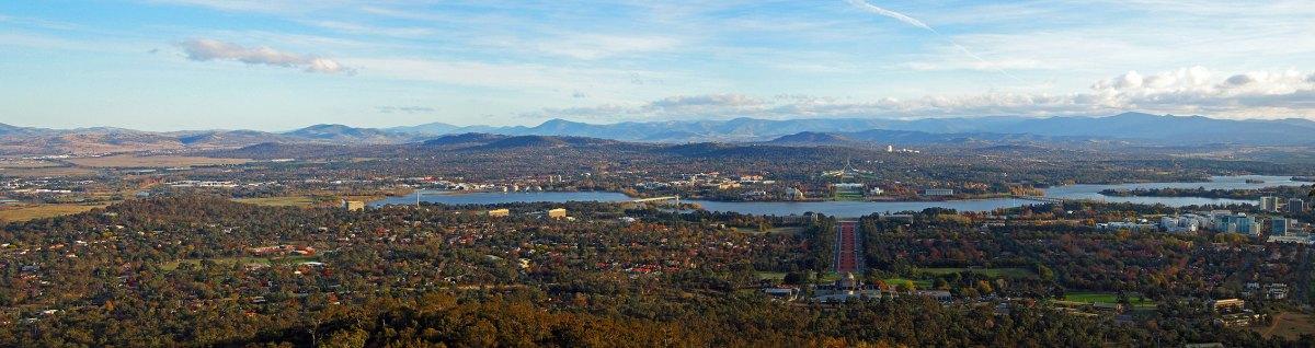 The Brindabella Range beyond Canberra