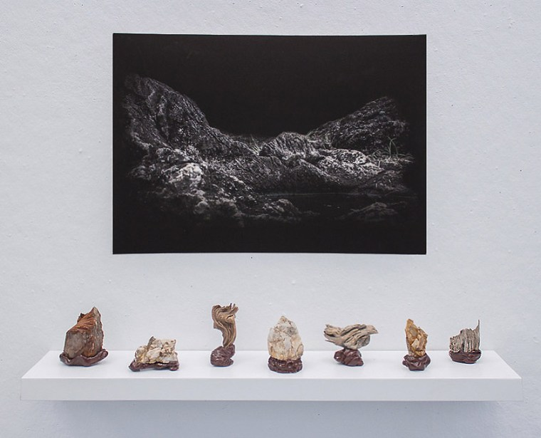 "Part of Andrew Yang's ""Makeshift Geologies"" exhibitions"