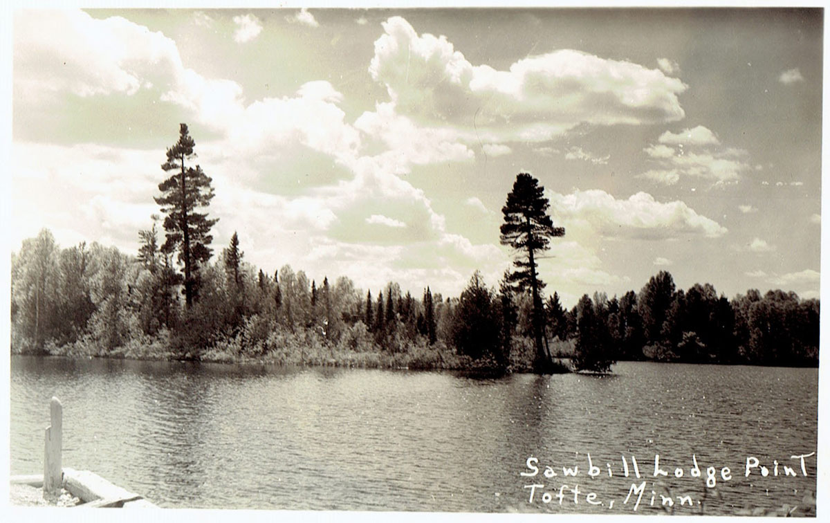 Historic photo of the lake