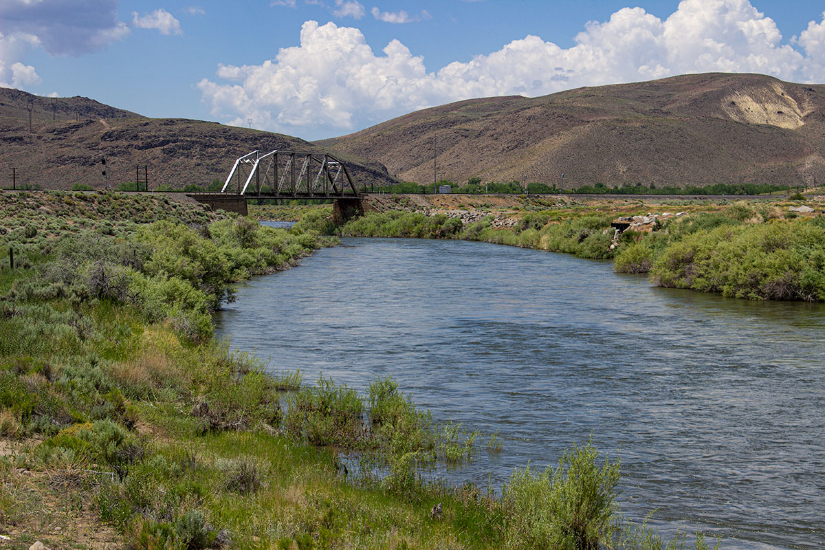 Railroad bridge on the Truckee River at McCarran Ranch Preserve