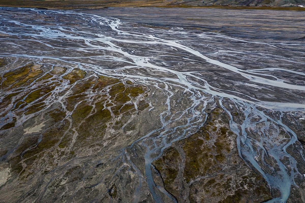 Glacier drainage. Photo by Michael O. Snyder.