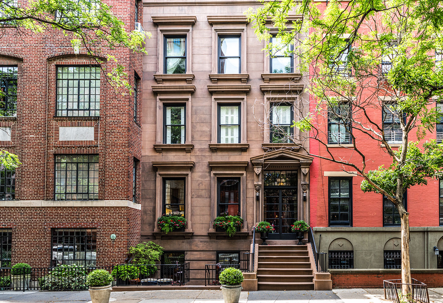 Rowhouses in Brooklyn, NYC