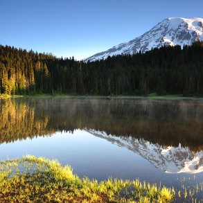 Mount Ranier and the reflection of Mount Ranier