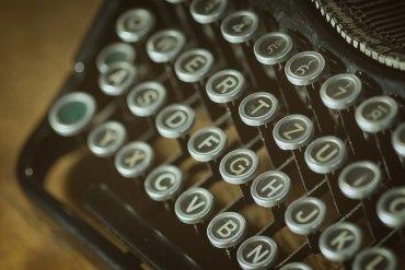Old-fashioned typewriter keys