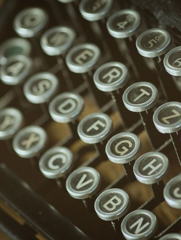 Old-fashioned typewriter keys