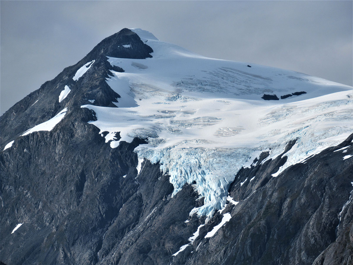 Ice above Portage Glacier, no longer connected to the main body