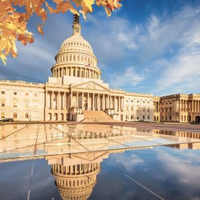 U.S. Capitol in autumn