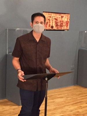 Juan J. Morales, masked