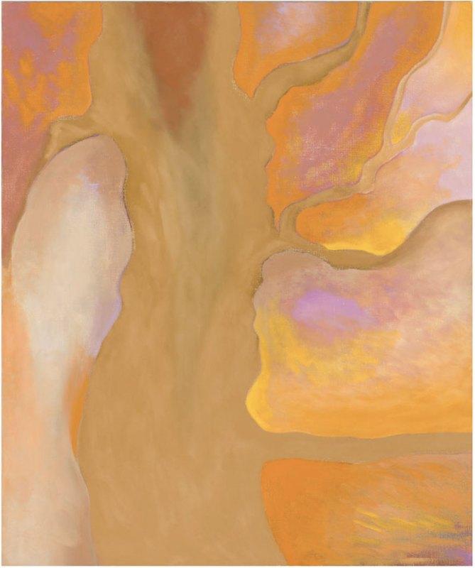 Tan, Orange, Yellow, Lavender, by Georgia O'Keeffee