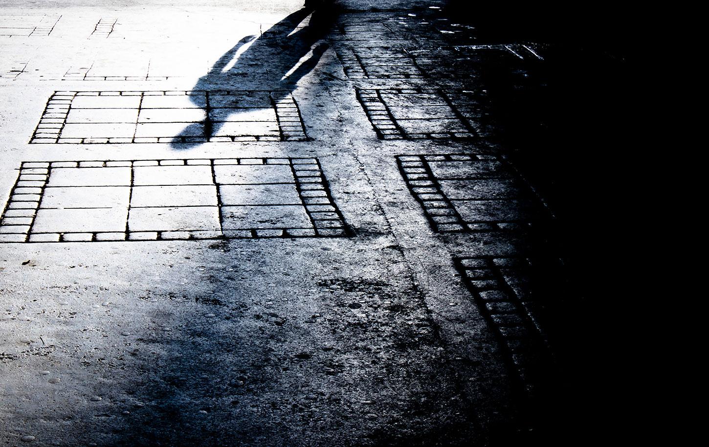 Shadow of man approaching