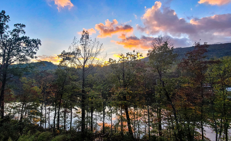 Sunset Camp at sunset