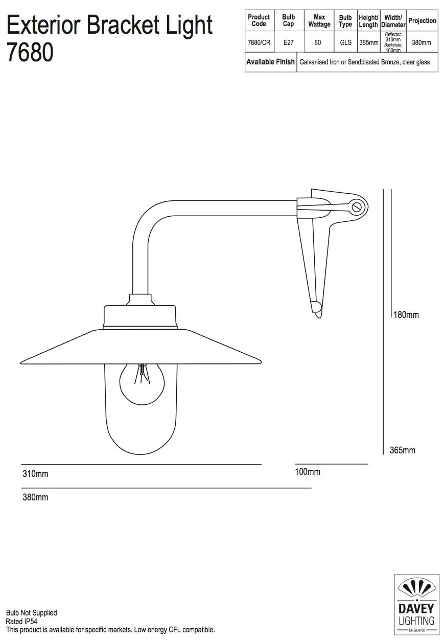 hight resolution of corner light in galvanized cast iron or bronze 7680 ga cl cr von
