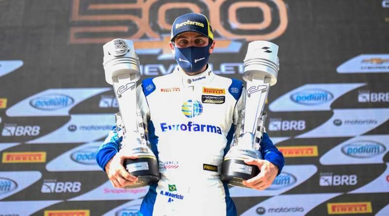 Ricardo Maurício venceu por um piscar de olhos a corrida #500 da Chevrolet e Gabriel Casagrande assumiu a ponta da classificação