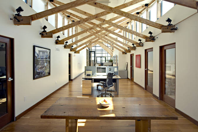 Old growth lumber used in renovated green building in Kentucky