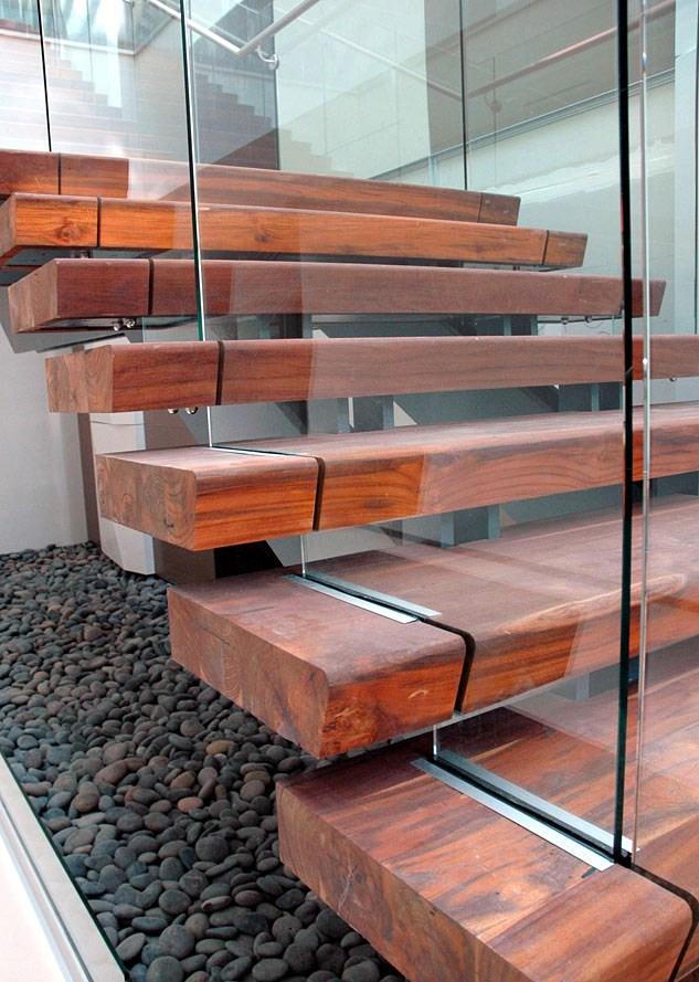 Rethinking The Humble Stair Tread 8 Reclaimed Wood Stair Tread | Live Edge Stair Treads | Stained | Build In Bench | Douglas Fir | Dark Risers | Barnwood