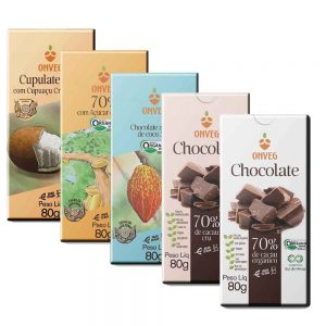Kit com 5 Chocolates Onveg