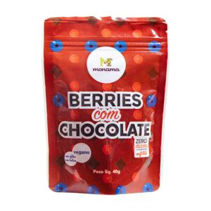 Snack Berries com Chocolate 80% 40g Sem Açúcar Monama