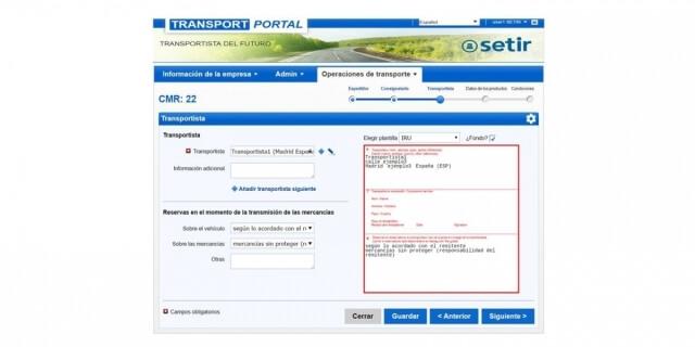 e-CMR transporte internacional España