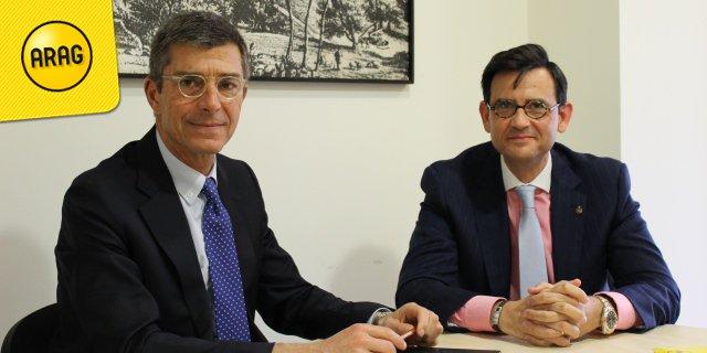Firma del acuerdo entre ARAG y el Colegio de Mediadores de Seguros de Málaga 2017