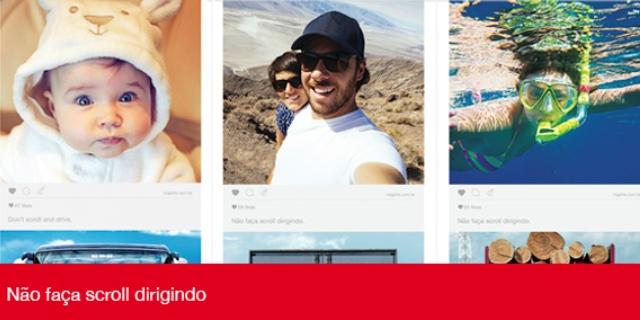 Imágenes de la campaña No hagas scroll conduciendo, de MAPFRE en BRASIL