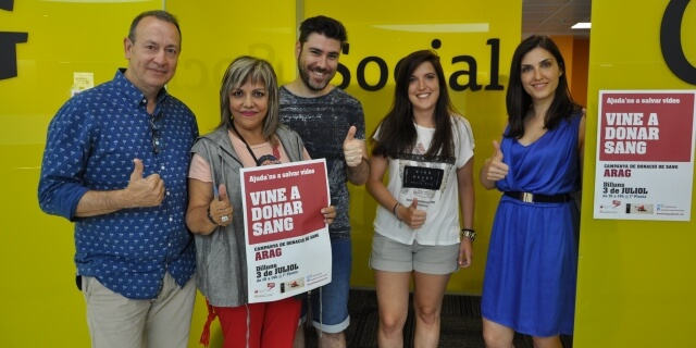 Trabajadores de ARAG en la campaña solidaria de donación de sangre celebrada en Barcelona