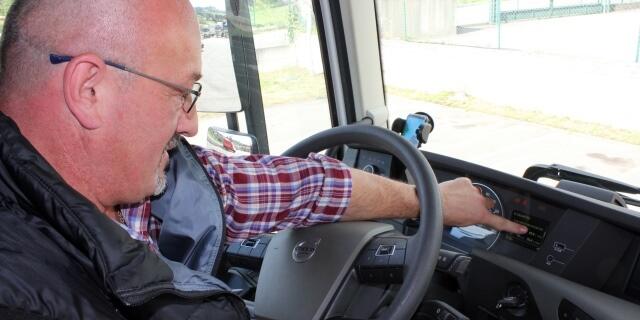 Camionero trabajando