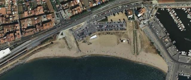 Playa Picordia en Arenys de Mar (Barcelona)