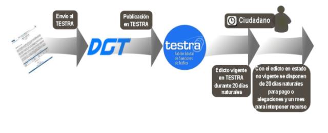 TESTRA es un banco de datos donde todas las multas pendientes por pagar quedan registradas.