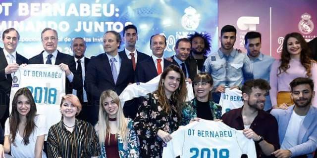 acto de presentación concierto solidario de OT Bernabéu