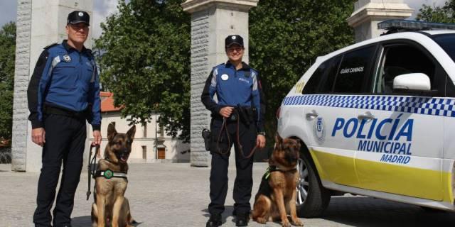 Perros de la Policía Municipal de Madrid