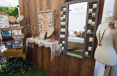 Cedar wall for booth display & New designs