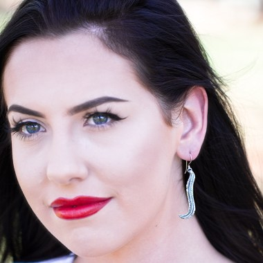 Rooster Tail Feather Earrings-Terra Rustica Jewelry