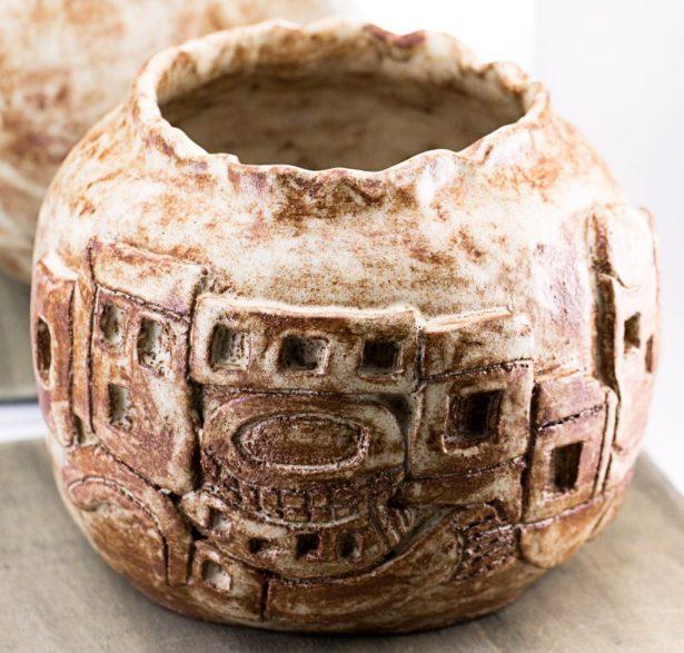 Anasazi inspired pot
