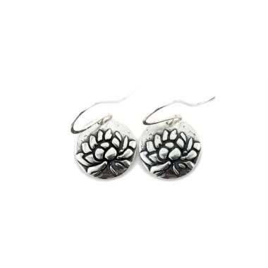 Lotus Awakening Earrings-Terra Rustica Jewelry