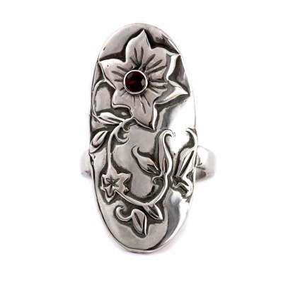 Hibiscus Flower Ring-Terra Rustica Jewelry