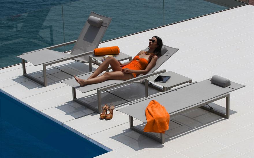 Bain de soleil transat design Concarneau Bretagne  Terrasse et demeureTerrasse et demeure