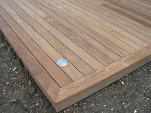 terrasse bois lame de finition