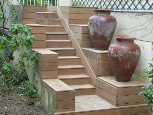 Terrasse En Escalier Sur Carrelage