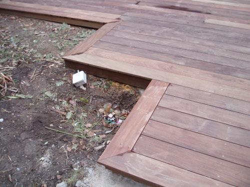 faire les finitions de ma terrasse en ipe