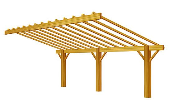 Uberdachung Terrasse Aus Holz Selber Bauen Innenräume Und Möbel