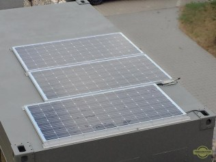 Solar panels on expedition truck