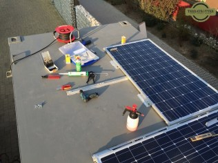 After: One solar panel turned 90º