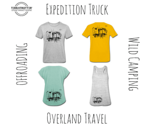 T-shirt sketch Expedition truck | Terratrotter
