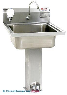 pedestal sink usp 797 304 stainless steel foot pedal eagle