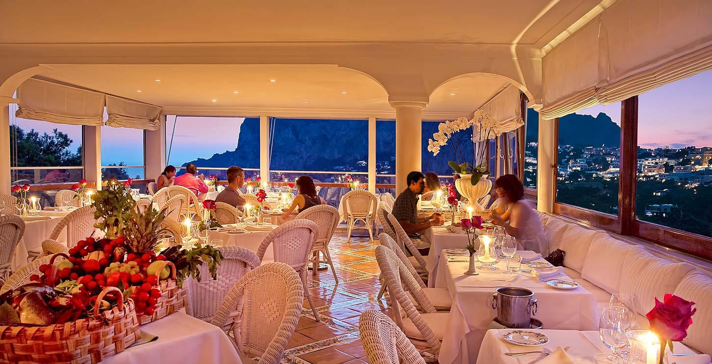 Terrazza Brunella a romantic restaurant on Capri