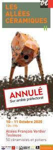 AlleesCeramiques2020 Affiche1 annule web | Terre et Terres | Marché Toulouse | Les Allées Céramiques Annulé à Toulouse les 10 et 11 octobre 2020 | Article | Terre et Terres | 8 octobre 2020