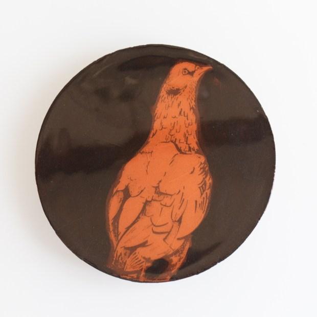 2 | Nathalie Charrié | Ball trap | Produit | 35,00€ | 6344 | Pigeons d'argile sérigraphiés à l'engobe et émaillés. | Nathalie Charrié - Artiste céramiste | Terre et Terres | 10 décembre 2020